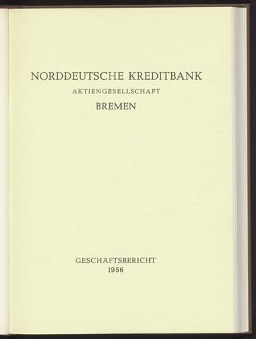 Geschäftsberichte Norddeutsche Kreditbank 1956-01-01