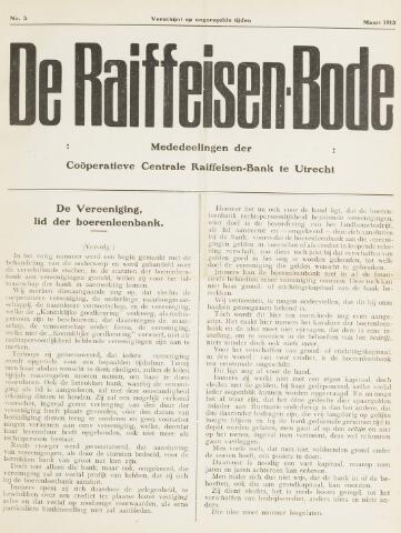 blad 'De Raiffeisen-bode' (CCRB) 1913