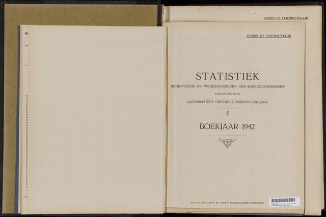 Statistiek aangesloten banken CCB 1942-12-31