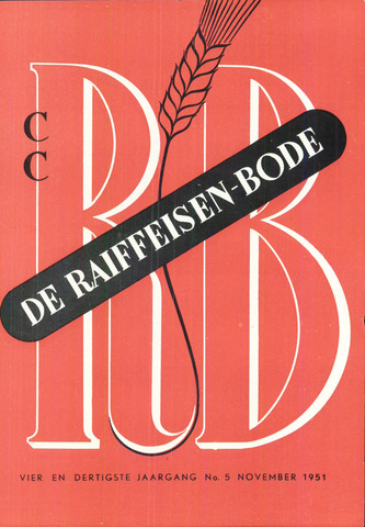 blad 'De Raiffeisen-bode' (CCRB) 1951-11-01