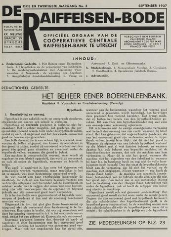 blad 'De Raiffeisen-bode' (CCRB) 1937-09-01