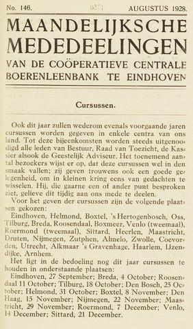 blad 'Maandelijkse Mededelingen' (CCB) 1928-08-01