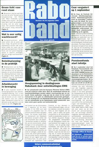 blad 'Raboband' 1993-08-23