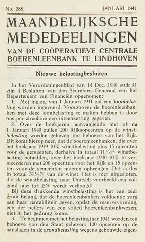 blad 'Maandelijkse Mededelingen' (CCB) 1941-01-01