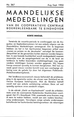 blad 'Maandelijkse Mededelingen' (CCB) 1950-08-01