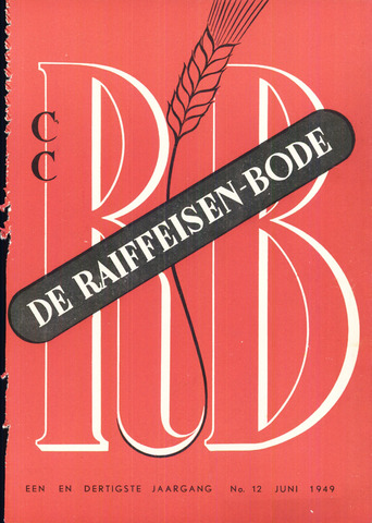 blad 'De Raiffeisen-bode' (CCRB) 1949-06-01