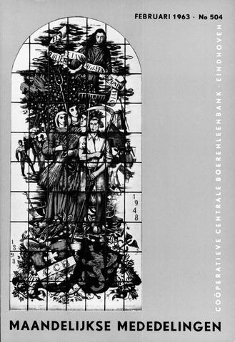 blad 'Maandelijkse Mededelingen' (CCB) 1963-02-01