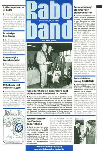 blad 'Raboband' 1991-06-24