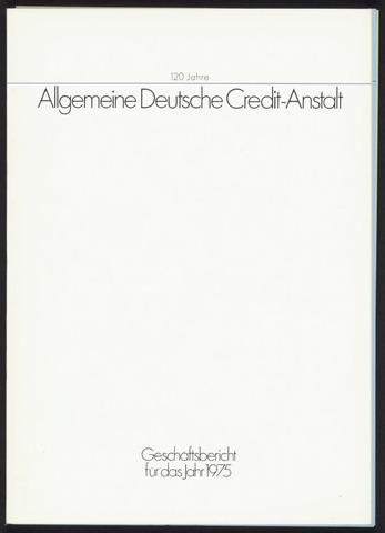 Geschäftsberichte Allgemeine Deutsche Credit-Anstalt / ADCA Bank 1975-01-01
