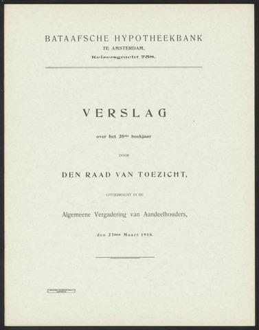 Jaarverslagen Bataafsche Hypotheekbank 1917