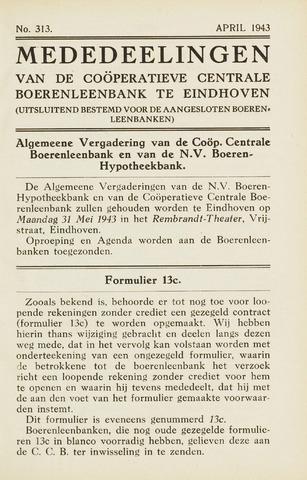 blad 'Maandelijkse Mededelingen' (CCB) 1943-04-01