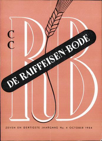 blad 'De Raiffeisen-bode' (CCRB) 1954-10-01
