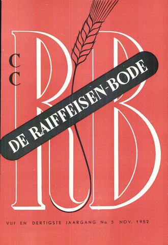 blad 'De Raiffeisen-bode' (CCRB) 1952-11-01