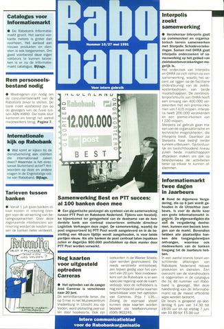 blad 'Raboband' 1991-05-27