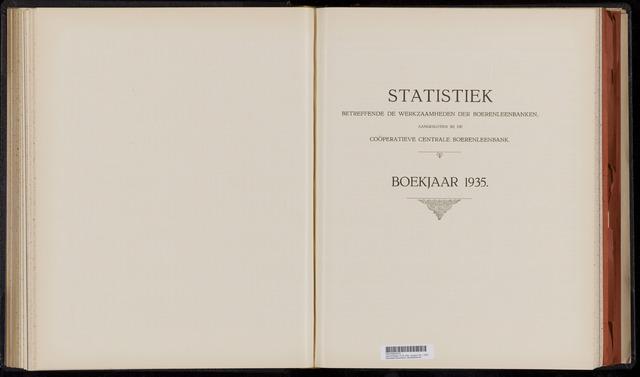 Statistiek aangesloten banken CCB 1935
