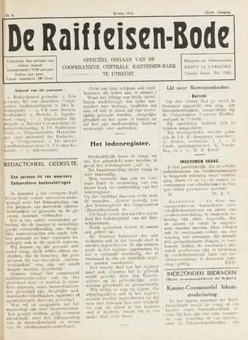 blad 'De Raiffeisen-bode' (CCRB) 1915-10-01