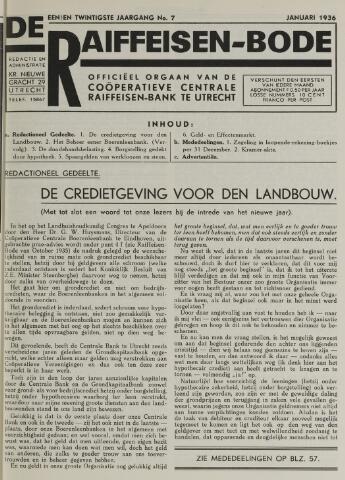 blad 'De Raiffeisen-bode' (CCRB) 1936-01-01