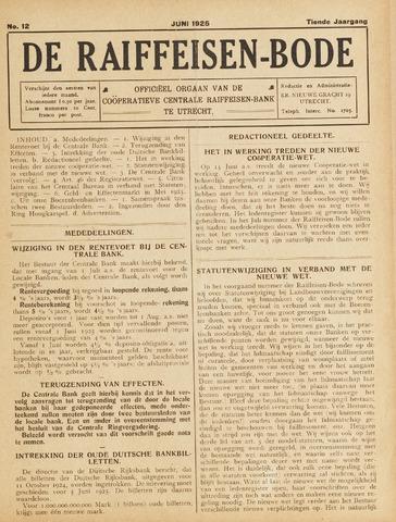blad 'De Raiffeisen-bode' (CCRB) 1925-06-01