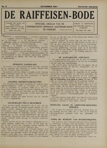 blad 'De Raiffeisen-bode' (CCRB) 1927-12-01
