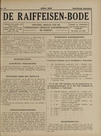 blad 'De Raiffeisen-bode' (CCRB) 1929-04-01