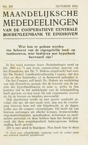 blad 'Maandelijkse Mededelingen' (CCB) 1933-10-01