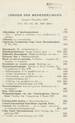 blad 'Maandelijkse Mededelingen' (CCB) 1929