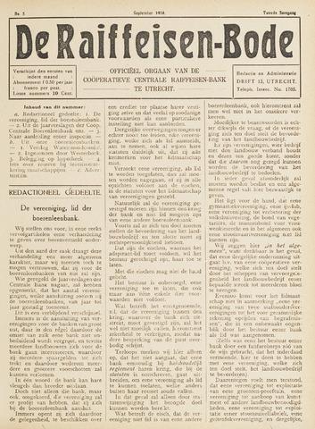 blad 'De Raiffeisen-bode' (CCRB) 1916-09-01
