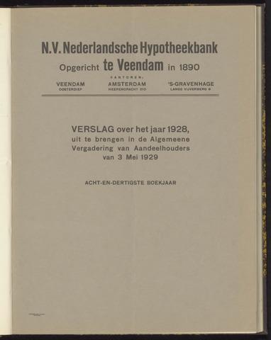 Jaarverslagen Nederlandsche Hypotheekbank 1928