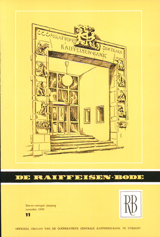 blad 'De Raiffeisen-bode' (CCRB) 1959-11-01