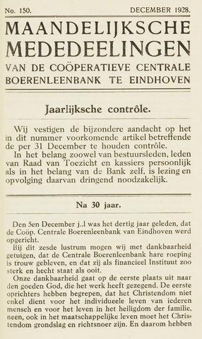 blad 'Maandelijkse Mededelingen' (CCB) 1928-12-01