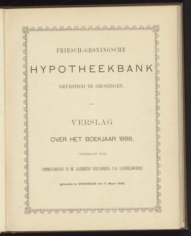 Jaarverslagen Friesch-Groningsche Hypotheekbank / FGH Bank 1898