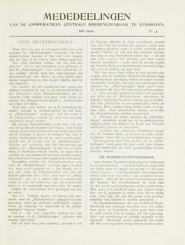 blad 'Mededeelingen' (CCB) 1909