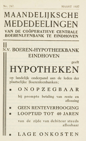 blad 'Maandelijkse Mededelingen' (CCB) 1937-03-01