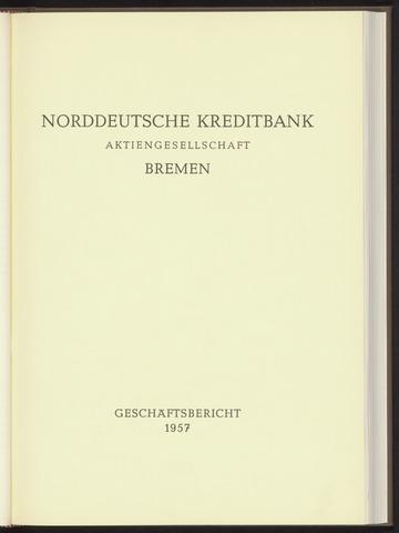 Geschäftsberichte Norddeutsche Kreditbank 1957-01-01