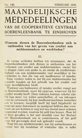 blad 'Maandelijkse Mededelingen' (CCB) 1928-02-01