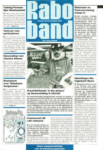 blad 'Raboband' 1991-12-16