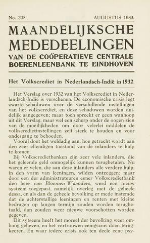 blad 'Maandelijkse Mededelingen' (CCB) 1933-08-01