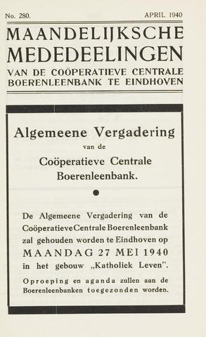 blad 'Maandelijkse Mededelingen' (CCB) 1940-04-01