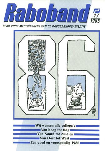 blad 'Raboband' 1985-12-18