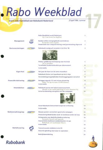 Rabo Weekblad 1996-04-25