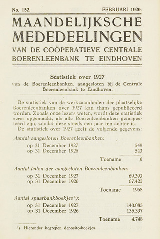 blad 'Maandelijkse Mededelingen' (CCB) 1929-02-01
