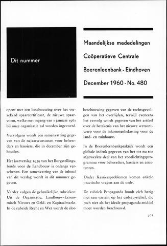 blad 'Maandelijkse Mededelingen' (CCB) 1960-12-01