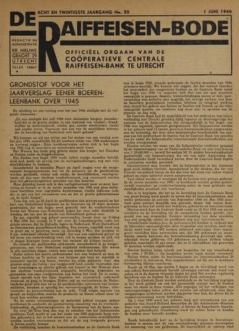 blad 'De Raiffeisen-bode' (CCRB) 1946-06-01