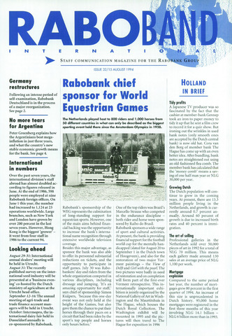 blad 'Raboband International' (EN) 1994-08-15