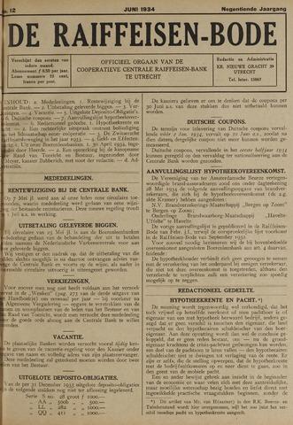 blad 'De Raiffeisen-bode' (CCRB) 1934-06-01