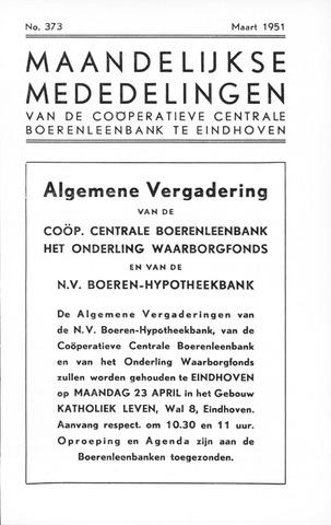 blad 'Maandelijkse Mededelingen' (CCB) 1951-03-01