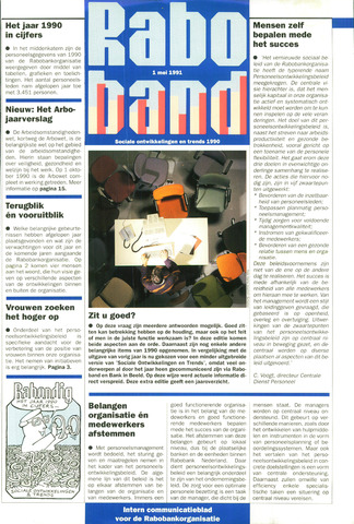 blad 'Raboband' 1991-05-01