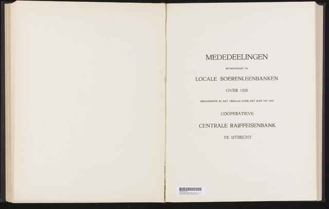 Mededelingen lokale banken CCRB 1925-12-31