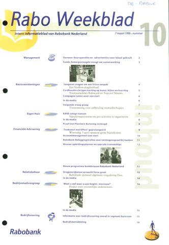 Rabo Weekblad 1996-03-07