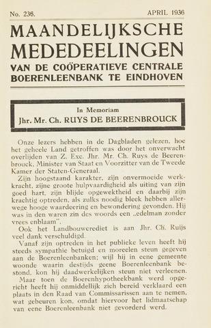 blad 'Maandelijkse Mededelingen' (CCB) 1936-04-01